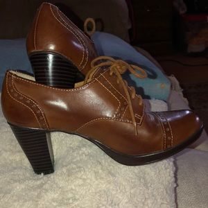 Beautiful brown heeled booties